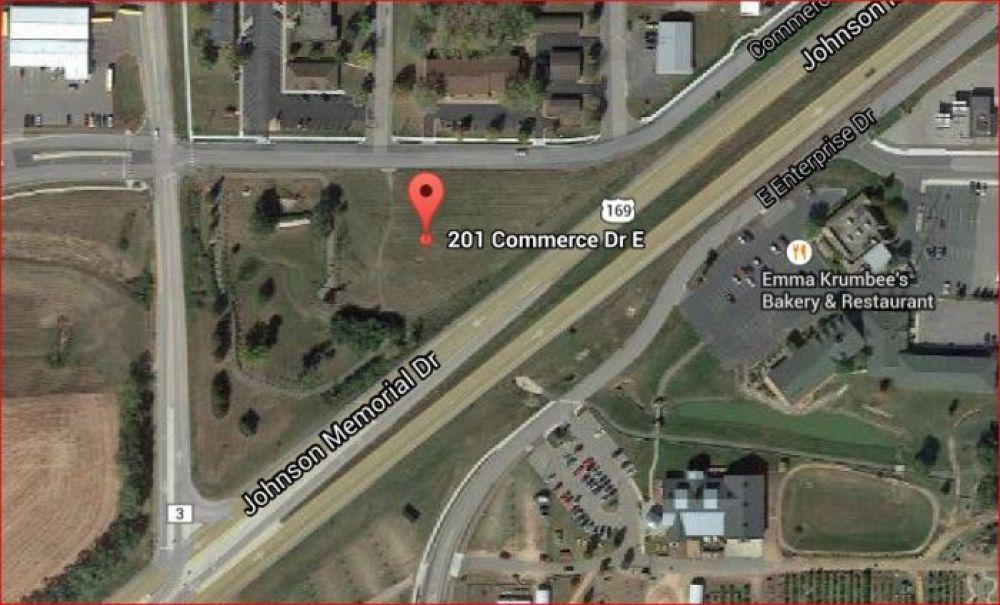 Scott County, Belle Plaine 201 Commerce Dr E - Hwy 169 Visibiltiy